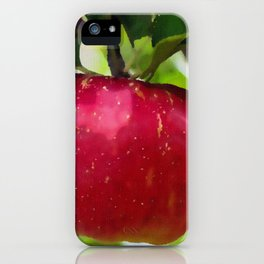 Juicy red apple iPhone Case