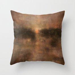 Daybreak Lake Throw Pillow