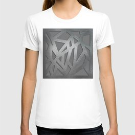 Metal Engraved Geometric pattern T-shirt
