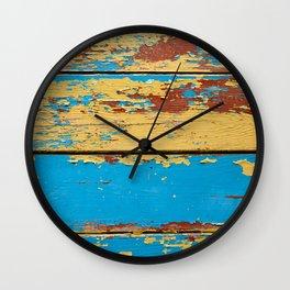 Wooden deck. Wall Clock