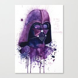 I find your lack of face disturbing Canvas Print