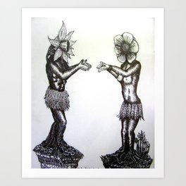 Roots of love Art Print