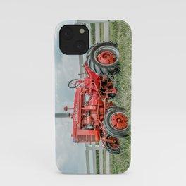Vintage Farmall A Antique Red Tractor Farming Nostalgia Farm Equipment  iPhone Case