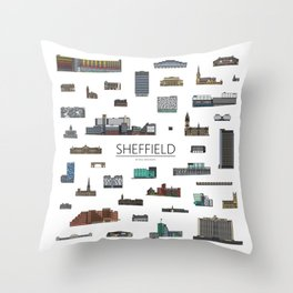 Sheffield Icons Throw Pillow