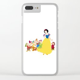 Snow White and the Seven Dwarfs Clear iPhone Case
