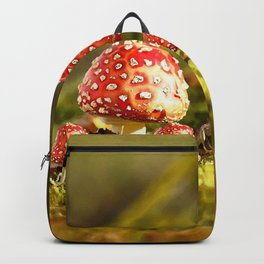 Beautiful but toxic - Fly agaric - Amanita - Autumn illustration - #society6 #buyart Backpack