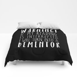Warning! I Will Turn Into A Dementor - Black Comforters