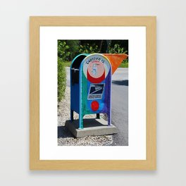 Captiva Island Mailbox- vertical Framed Art Print