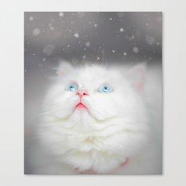Kitten's First Snow Canvas Print