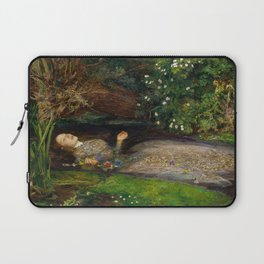 Ophelia from Hamlet Oil Painting by Sir John Everett Millais Laptop Sleeve