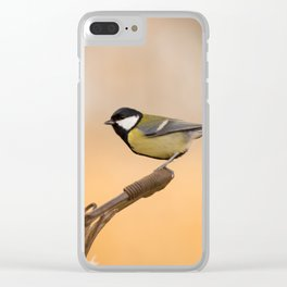 Songbird (Great Tit) on Autumn Day #decor #society6 #buyart Clear iPhone Case