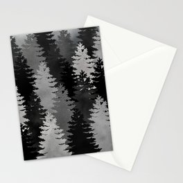 Pine Trees Black and White Stationery Cards