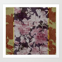 geranium border Art Print
