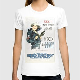 Howard Chandler Christy - Gee I wish I were a Man, I'd Join the Navy - Digital Remastered Edition T-shirt