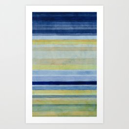 Colorbands Daylight Blue and Yellow Art Print