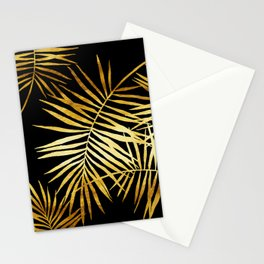 Tropical Palm Fronds Noir Stationery Cards