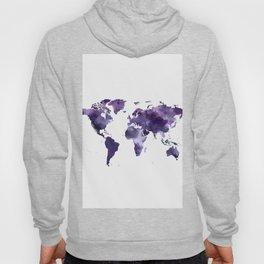 Purple World Map Hoody