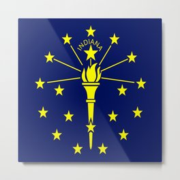 flag indiana,midwest,america,usa,carmel, Hoosier,Indianapolis,Fort Wayne,Evansville,South Bend Metal Print