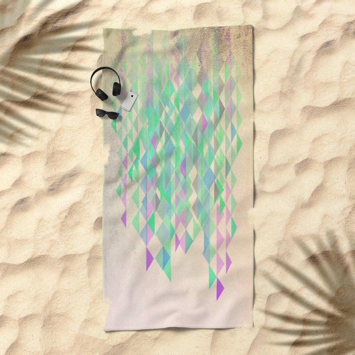 Summer Rain Beach Towel