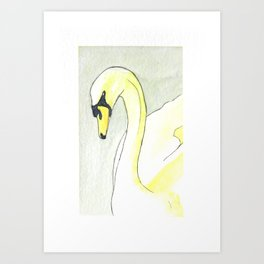 Nickel Titanate Yellow Swan Art Print
