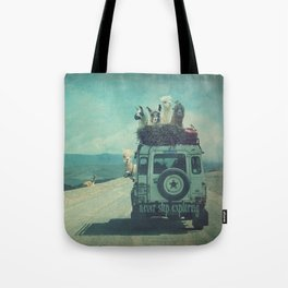 NEVER STOP EXPLORING II SOUTH AMERICA Tote Bag