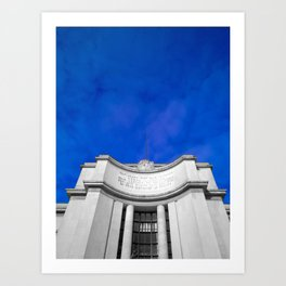 Paris sky architecture black and white with color Art Print