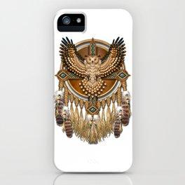Native American-Style Great Horned Owl Mandala iPhone Case