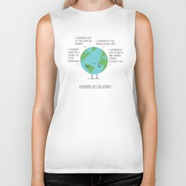 Wonders of the world Biker Tank