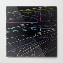 Neon Disco Metal Print