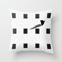 chess Throw Pillows featuring chess by Helena Georgiou