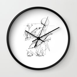 Happy Dolphins Wall Clock