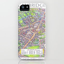 CAMBRIDGE University map ENGLAND iPhone Case