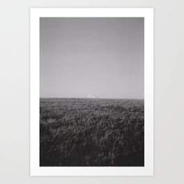 The cloud at the top of the hill.  Art Print