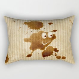 The Smile of Coffee Drop - Old Paper Style Rectangular Pillow