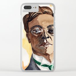 Man with glasses Clear iPhone Case