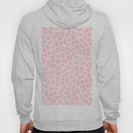 Girly blush pink white abstract animal print Hoody
