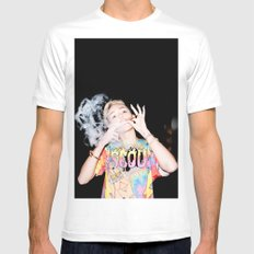 M. Cyrus White X-LARGE Mens Fitted Tee