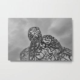Iron statue Metal Print