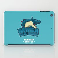 monster hunter iPad Cases featuring Monster Hunter All Stars - Moga Sea Dogs by Bleached ink