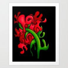 Garden Flower (1 of 3) Art Print