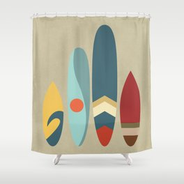 New day.new waves Shower Curtain