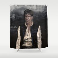 han solo Shower Curtains featuring Han Solo by Rafal Rola