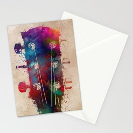 guitar art 5 #guitar #music Stationery Cards