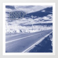 modest mouse Art Prints featuring Modest Mouse - This Is a Long Drive for Someone with Nothing to Think About by NICEALB