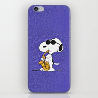 snoopy iPhone & iPod Skins featuring Snoopy by DisPrints