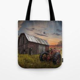 Abandoned Farmall Tractor and Barn Tote Bag