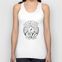 adventure is out there Tank Tops featuring ADVENTURE IS OUT THERE by Vincent Cousteau