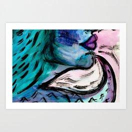 Kiss The Wave Art Print