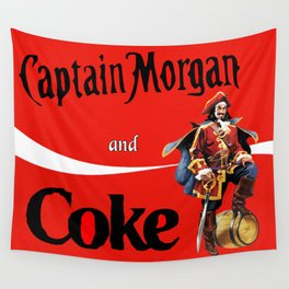 Captain and Coke Wall Tapestry