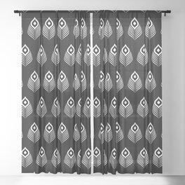 Peacock feather Sheer Curtain